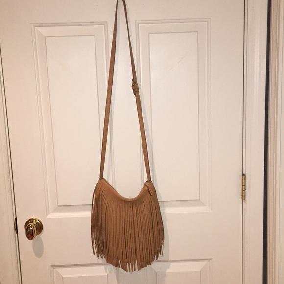 437a3e70e4 Tan Fringe Tassel purse or bag. Francesca's Collections.  M_5b9b157eaaa5b8114c6636dd. M_5b9b157eaaa5b8114c6636dd